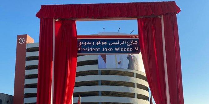 Nama Presiden Joko Widodo Dijadikan Jalan di Abu Dhabi