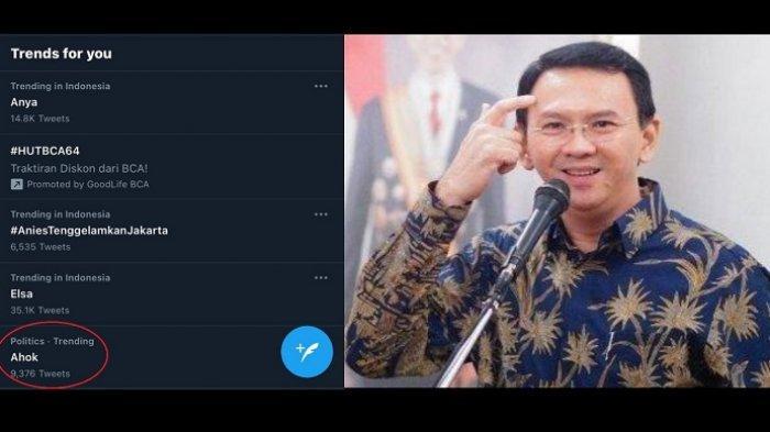 Nama Ahok Trending di Twitter, Warganet Rindu akan Sosoknya yang Dinilai Mampu Atasi Banjir Jakarta