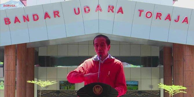 Resmikan Bandara Toraja, Presiden Jokowi Ajak Masyarakat Lihat Negeri di Atas Angin