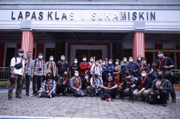 Konferensi Pers Program Pembekalan Antikorupsi di LP Sukamiskin Bandung