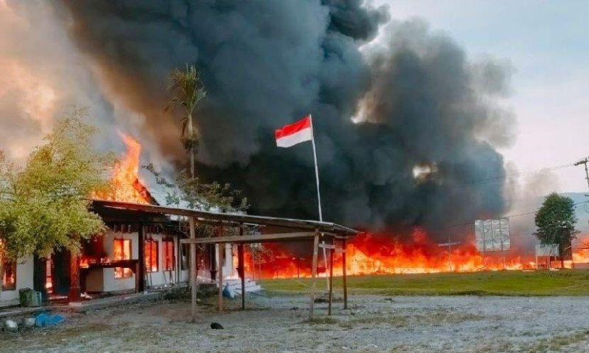 Bangunan dan Fasilitas Pemerintah di Yalimo Dibakar Massa