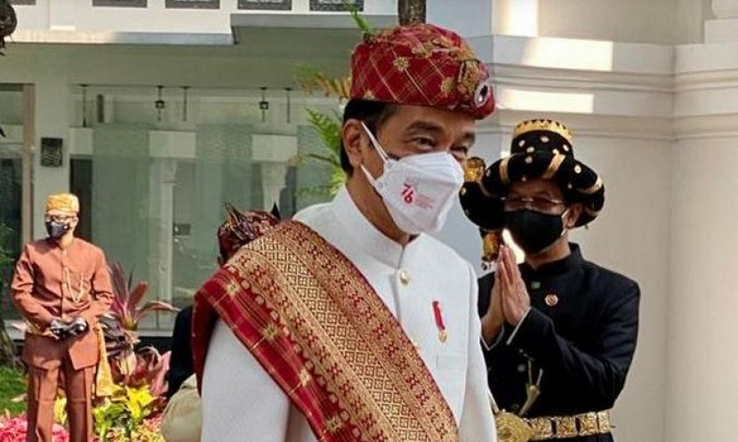 Berbaju Adat Lampung, Jokowi Pimpin Upacara HUT RI di Istana